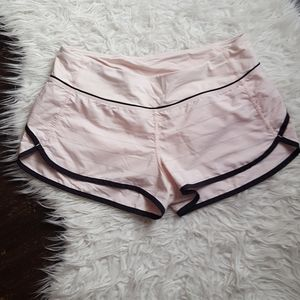 Lululemon pink running shorts